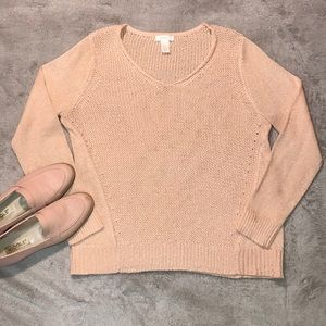 Chico's - Pink sparkle sweater